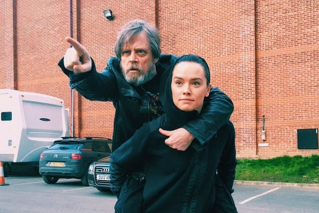 "Mark Hamill almost called Daisy Ridley his ""daughter"" during the panel and Rian Johnson slapped himself on the forehead. (Hamill also called John Boyega his ""son,"" BUT STILL.)"