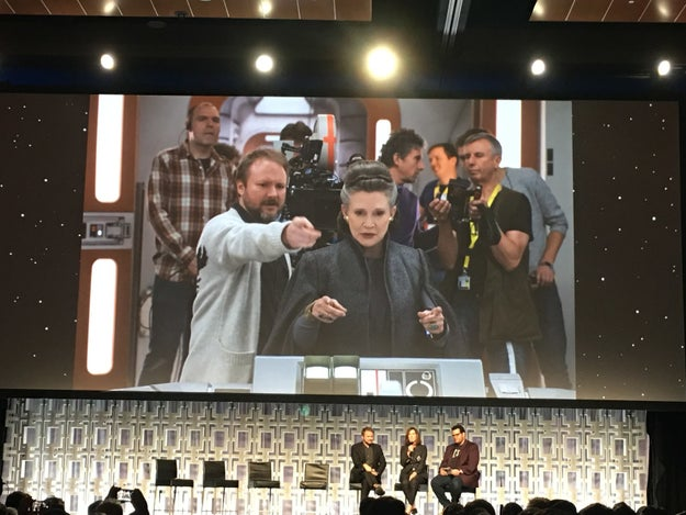 Carrie Fisher helped Johnson with the script for The Last Jedi.