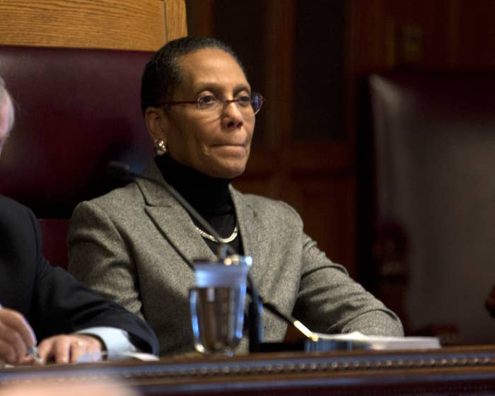Court of Appeals Associate Judge Sheila Abdus-Salaam on Tuesday, Feb. 17, 2015, in Albany, N.Y.
