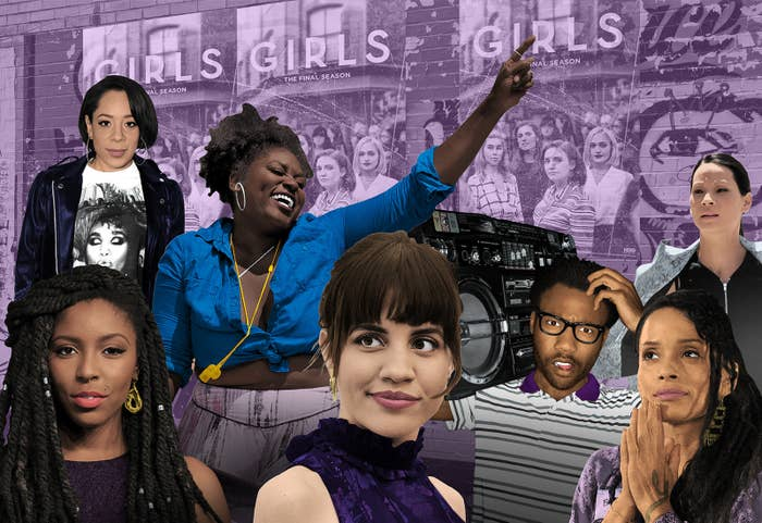 Since its inception, Girls has gotten a lot of criticism for its lack of characters of color, considering it's a show set in Brooklyn. More people of color did appear as minor characters as the seasons progressed —Seasons 1 and 2 both had less than eight PoC say one word, a rate that tripled in later seasons — but Girls' central characters are all white.Now that the series has completed its run on HBO, it seemed like the perfect time to take a look back and break down all the PoC who had speaking roles on Girls throughout its tenure. (Lena Dunham and Jenni Konner were unavailable to be interviewed for this story.)From notables like Sandy (Donald Glover) and Karen (Jessica Williams) to every babysitter, doctor, and receptionist, I present to you a list of literally every PoC to speak on Girls.