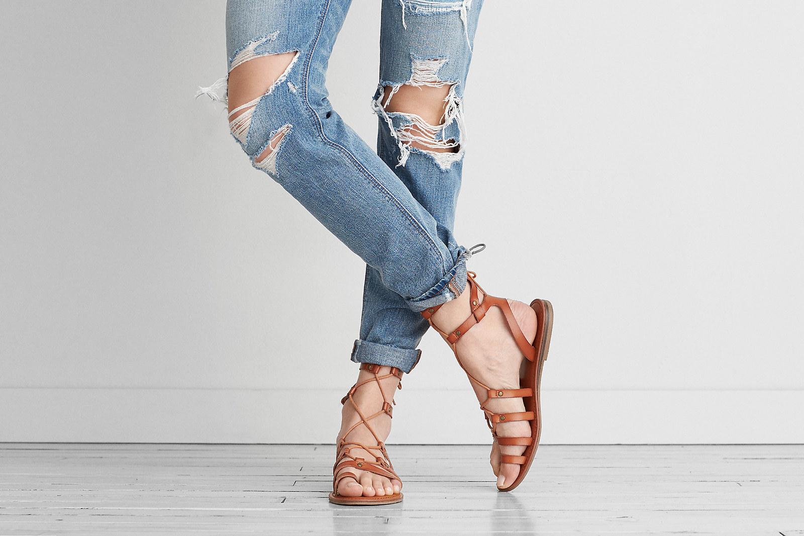 new cheap price AEO Aeo Ankle Wrap Thong Sandal discount footlocker Vn76bf5LIq