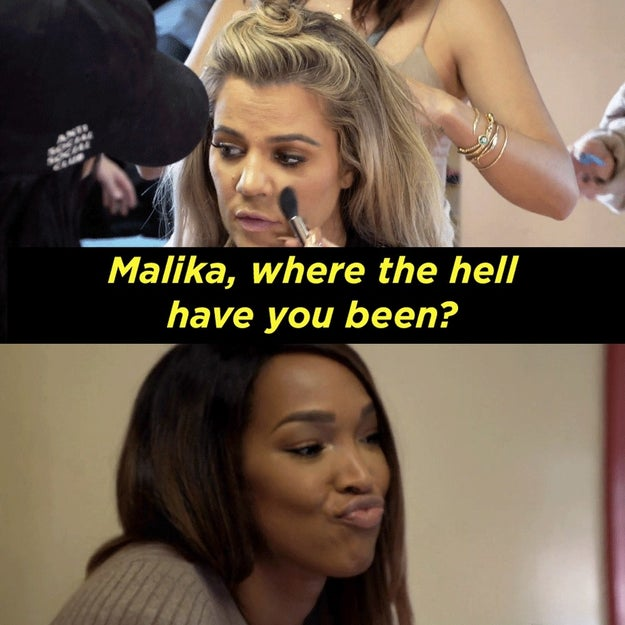 Apparently, Malika was ignoring Khloé's calls and was MIA because she was in a new relationship with...