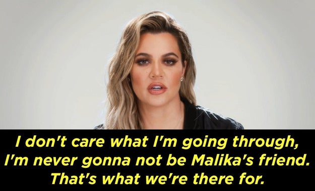 In an interview after their moment together, Khloé was supportive of her friend.