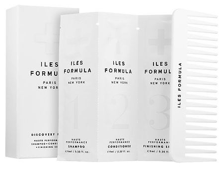 """What You'll Get: Four haute performance shampoo and conditioner packets, four haute performance finishing serum packets, as well as a comb!Promising Review: """"I love the way this makes my hair feel. It is so silky, I could not stop playing with it all day. It was so shiny and the smell was yummy. I loved it so much I shared some packs with my friends so they could try it too."""" –tcatz74Get it from Sephora for $24.50."""