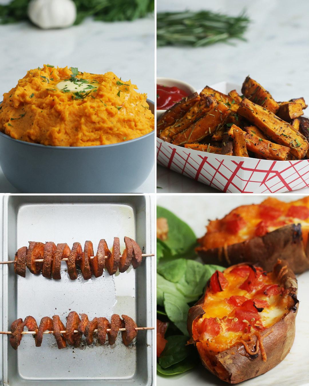 Sweet Potatoes Four Ways
