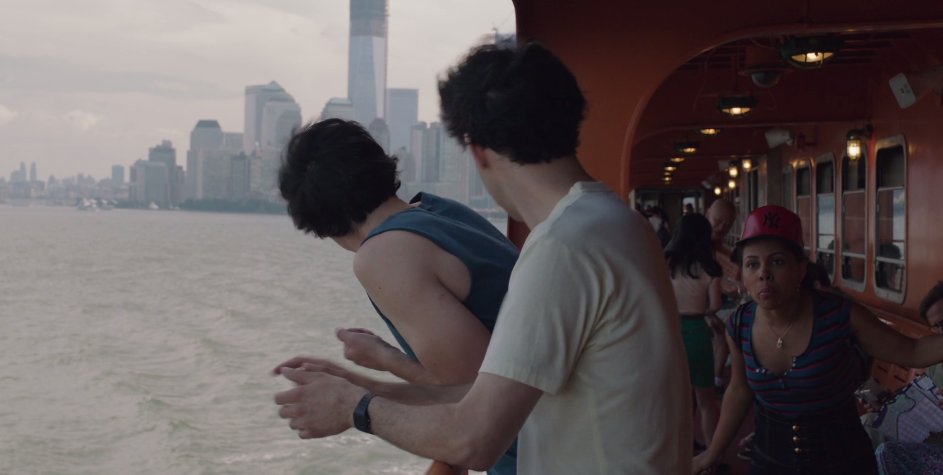 The woman who yelled at Adam and Ray (Alex Karpovsky) on the Staten Island ferry