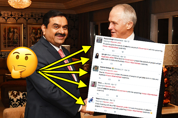 Billion mining project, have sparked a surprising amount of pro-Adani tweets