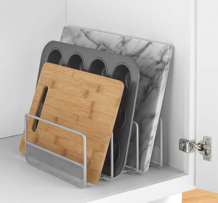 """Promising Review: """"I really like this product. I can fit 11 cutting boards into this holder."""" —M. DixonGet it from Amazon for $19.73"""