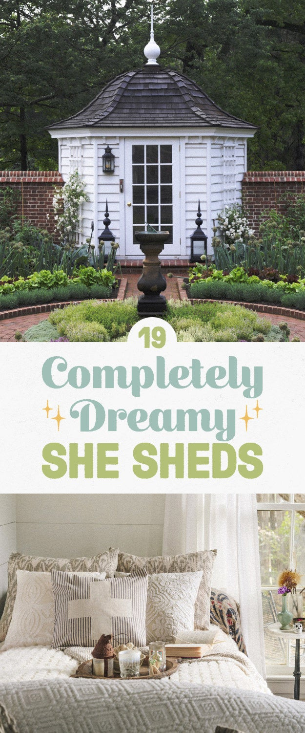 """""""She shed"""" is a kind of terrible name for a concept that's actually pretty cool: a female alternative to the """"man cave,"""" AKA a dedicated space where a gal can go to read, work on her hobbies, or just get five minutes of peace. Here are some truly dreamy ones from the book She Sheds: A Room of Your Own."""