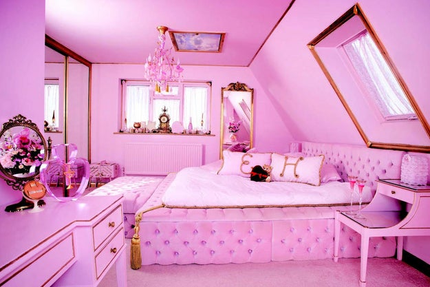 "If you're still like, ""But I've smoked drugs, that's nothing,"" please feast your eyes on this all-pink bedroom. FEAST THEM, I SAY."
