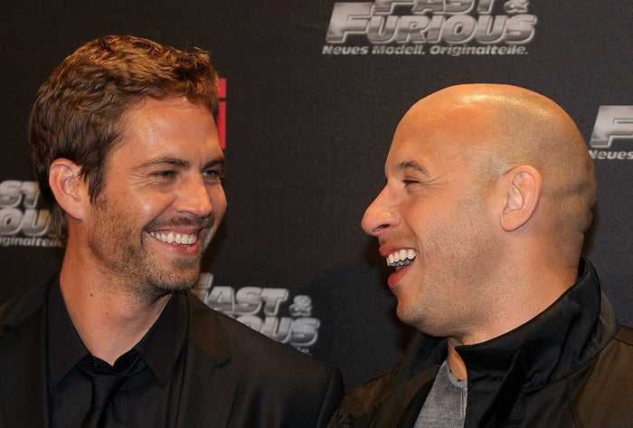 """4. A few days before Paul Walker's passing, Diesel had a conversation with him about what would happen if Diesel passed away. He recalls telling Walker, """"If I do die, let them know what kind of brother I've been to you."""" Walker died just a few days later. 5. Diesel went on to say that his first day back on set after Walker's death was """"the toughest film I ever had to shoot."""" 6. He also described going through three boxes of tissues and having to step away from set because his """"nose was running and eyes were tearing. I had to walk off set and try to get all the fluids out. I couldn't contain my emotions."""" 7. Diesel went to see Walker's family after his passing and he recalls Walker's mother telling him she was sorry. She explained that even though she was his mother, Diesel was """"his other half.""""8. When Diesel welcomed a baby girl in 2015 with Paloma Jiménez, he named her Pauline after Paul Walker."""
