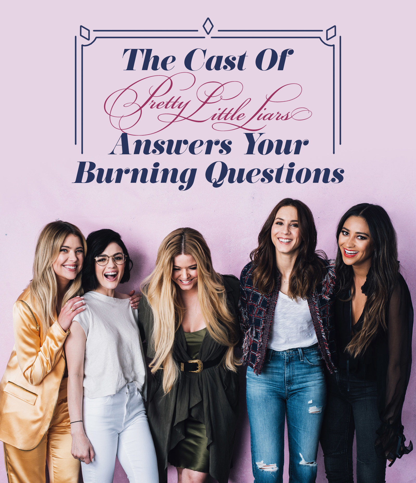 """Your Questions About Grasscloth Wallpaper Answered: The Cast Of """"Pretty Little Liars"""" Answers Your Burning"""