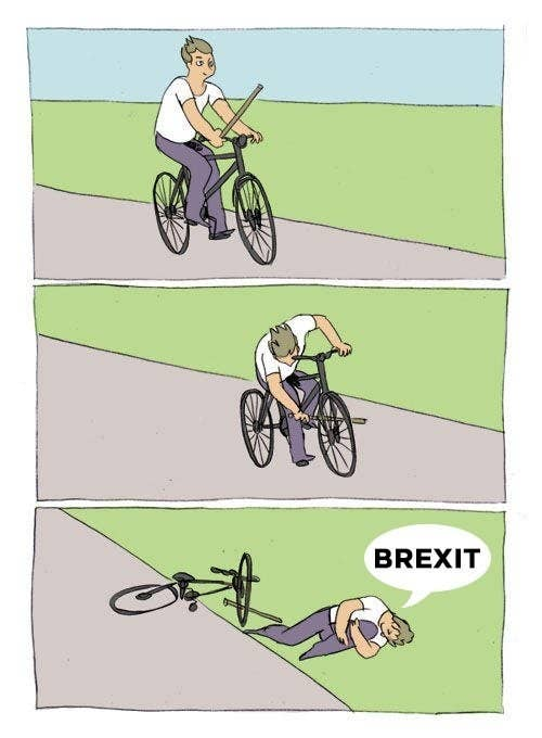 For those who don't remember, Brexit is the thing that's happening because British people voted in June last year to sever ties with the European Union, just for the bants.