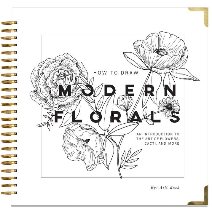 3 A Spiral Bound Guide To Help Anyone Become Master At Drawing Flowers And Other Flora