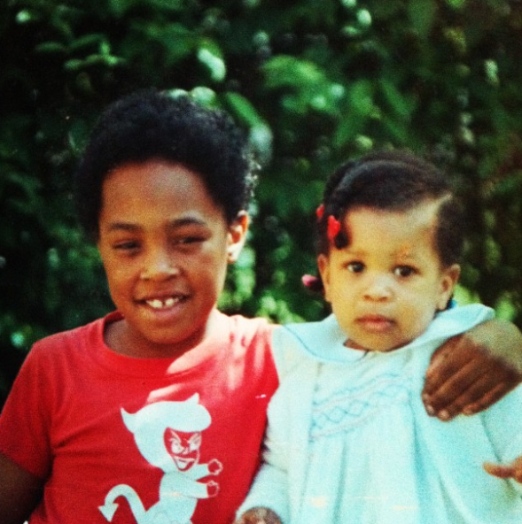 """That's me on the right with my big brother, Travis. Our grandparents and their grandparents were born in Kentucky, and my brother and I grew up in Louisville. Like many black people from the south, my family has been unable to trace our lineage beyond slavery, so we don't know where in Africa our ancestors from. Just that we came from somewhere out there.All we had to go on was an oral family history that maintained that we were, in the words of my grandmother, Tootsie, """"black, white, and (American) Indian."""" This is the case for a lot of black families; the idea that we have """"Indian in our family"""" is a bit of a cultural meme in black America at this point, and I've always wanted to examine how true that actually is."""