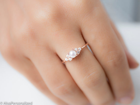 share on facebook share - Dainty Wedding Rings