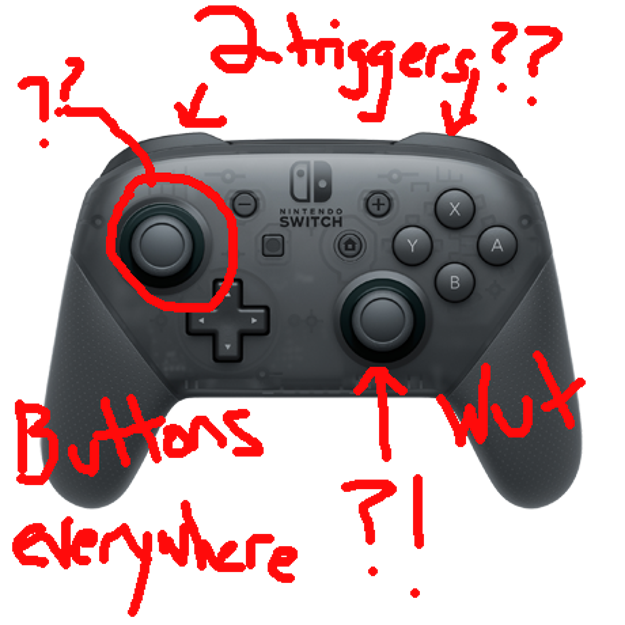 First challenge: figuring out how to use a Nintendo Switch Pro controller.