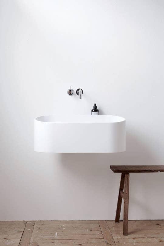 This sleek, sublime minimalist sink.