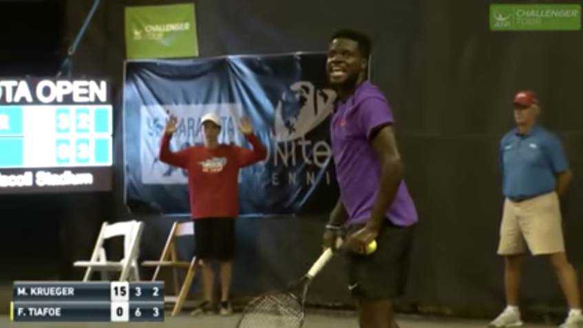 Some Incredibly Loud Moaning Interrupted This Tennis Match -9844