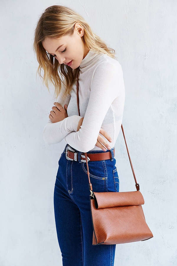 """Promising review: """"Bigger than I thought — it has a very generous capacity. The leather is really soft too."""" —fjdfnskfndjGet it from Urban Outfitters for $39."""