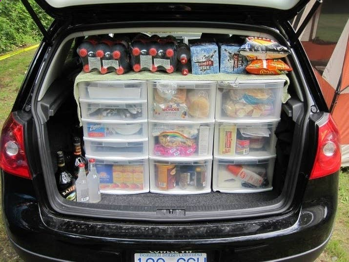 If Youre Sleeping In A Tent And Not Your Car Clear Drawers An Easy Access Pantry