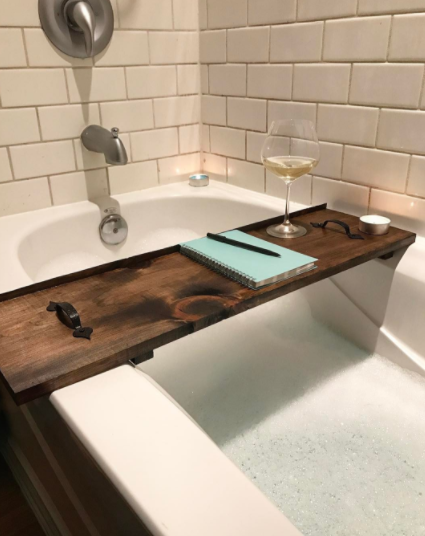 If you enjoy baths you definitely need a bathtub tray.