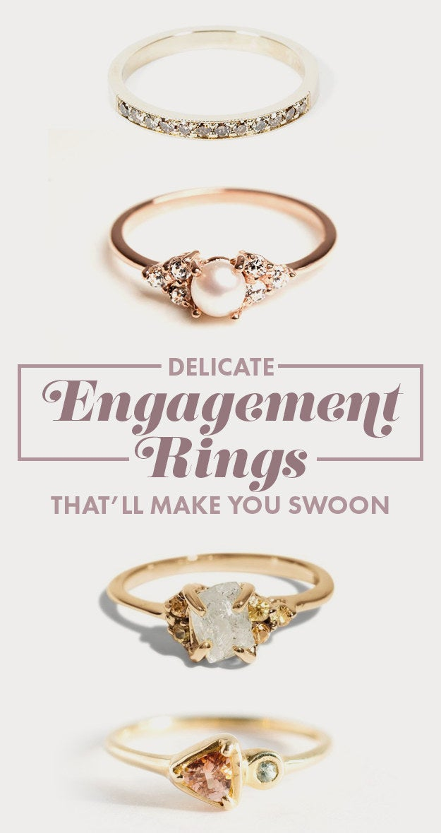 28 Delicate Engagement Rings That Ll Make You Say I Do