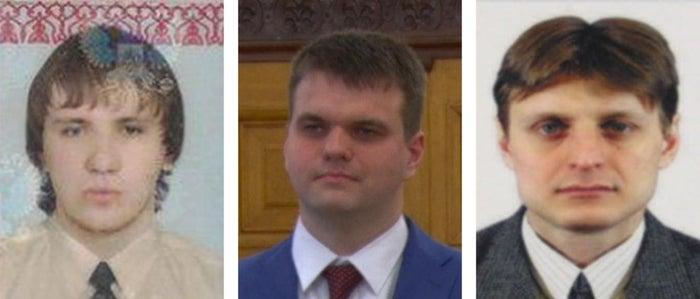 Left to right: Baratov, Dokuchaev, and Sushchin.