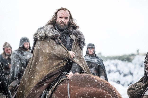 The Hound...hopefully headed back to Westeros to fight The Mountain.