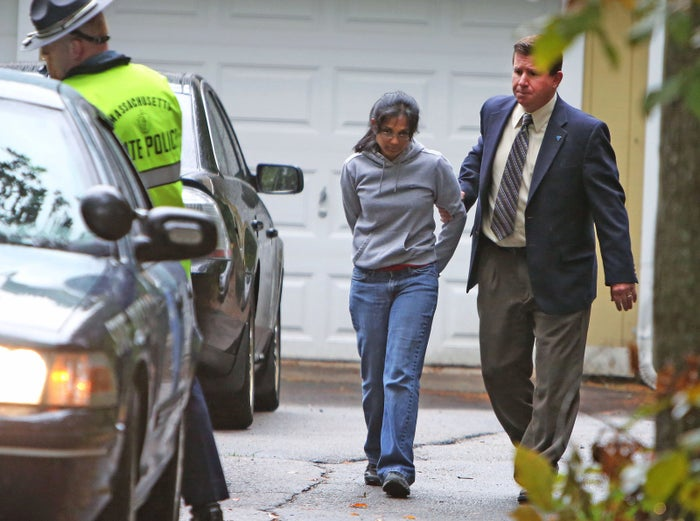 Annie Dookhan arrested at her Massachusetts home in September 2012.