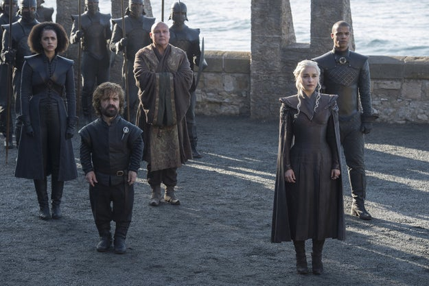 And finally, Daenerys again with her right hand men and women.