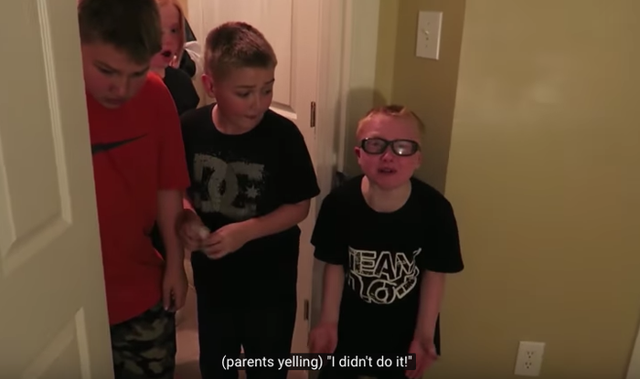 """As someone who was abused in their childhood, there are multiple ways to abuse your kid,"" DeFranco says in his video. ""There's mentally and there's physically."" DeFranco pulls footage from other DaddyOFive videos that suggest their pranks regularly target Cody — who seems the most resistant to and outspoken against the pranks.In one prank clip, Cody is seen being shoved into a bookcase."
