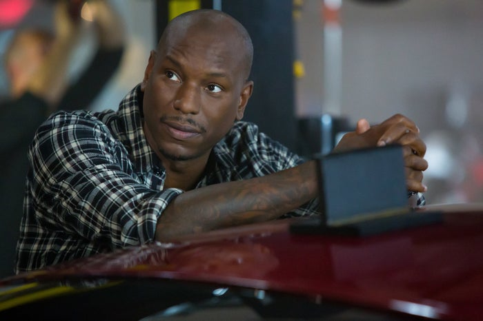 Tyrese brings a lot to the Fast films: humor, swagger, and that perfectly buffed scalp.