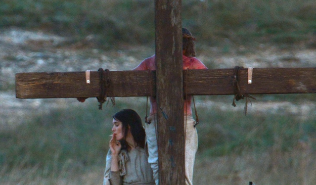 If you Google there's a bunch of photos from the set. Jesus smokes too! But putting those photos here would cost money. So enjoy this pic just one last time.