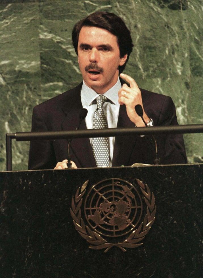 José María Aznar durante una cumbre de Naciones Unidas en 1992.