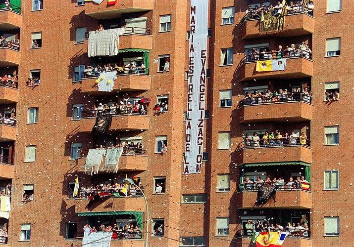 Madrid durante la visita del Papa Juan Pablo II en 1993.
