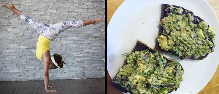 «Qui n'aime pas le goût riche et satisfaisant de l'avocat, surtout parce qu'ils sont pleins de vitamines, de vitamines, de potassium et de fibres? Courtiser! Woot! Cette recette est délicieuse car la crème crémeuse du fruit est équilibrée avec des olives salées et piquantes Kalamata et le goût fraîche et frais de la coriandre. Rechargez assez de coriandre et olives olives Kalamata (ou jettez-les dans un robot culinaire) à votre goût; Un peu peut aller très loin avec cette recette. Ajoutez-les à un avocat pelé et purée, puis mélangez. Bon appétit! '- Crystal McCreary, instructeur de vinyasa yoga à Upper West Side Yoga & Wellness, Harlem Wellness Centre et écoles de New York.