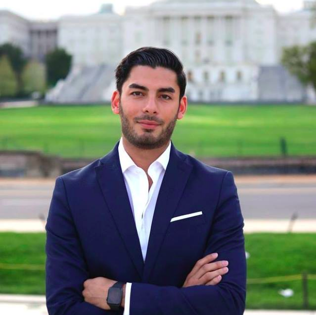 This is Ammar Campa-Najjar, a 28-year-old small business owner who runs a company called ACN strategies, which focuses on public affairs and strategic communications. He's also running for Congress.