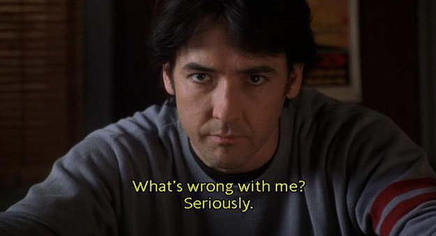 Rob (John Cusack) in High Fidelity