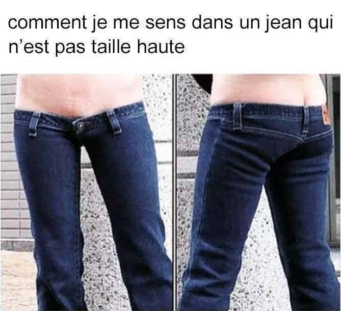 Vive les jeans taille haute, et celui qui a décidé qu'ils étaient maintenant à la mode.