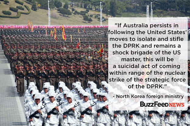 North Korea Has Threatened Australia With A Nuclear Strike Over Its Alliance With The United States