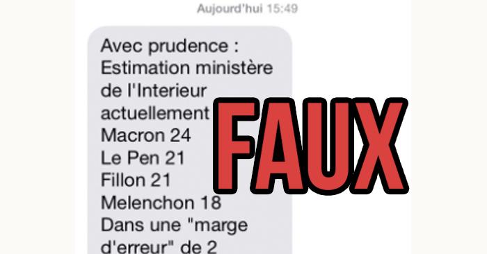 Attention aux faux sms de r sultats estimations venant for Elections ministere de l interieur