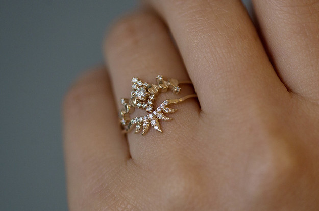 clear item flower wedding micro setting rings ring with crystal cz stone paved around for delicate prong