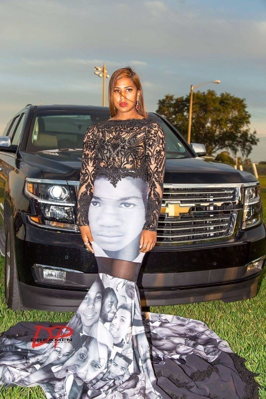 7f1c30d252 A Teen Wore A Dress To Prom With The Faces Of Black Victims Of ...