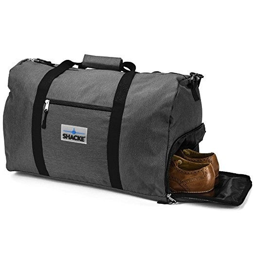 b1e2a1f5f3 A duffel bag with a special pocket just for your shoes.