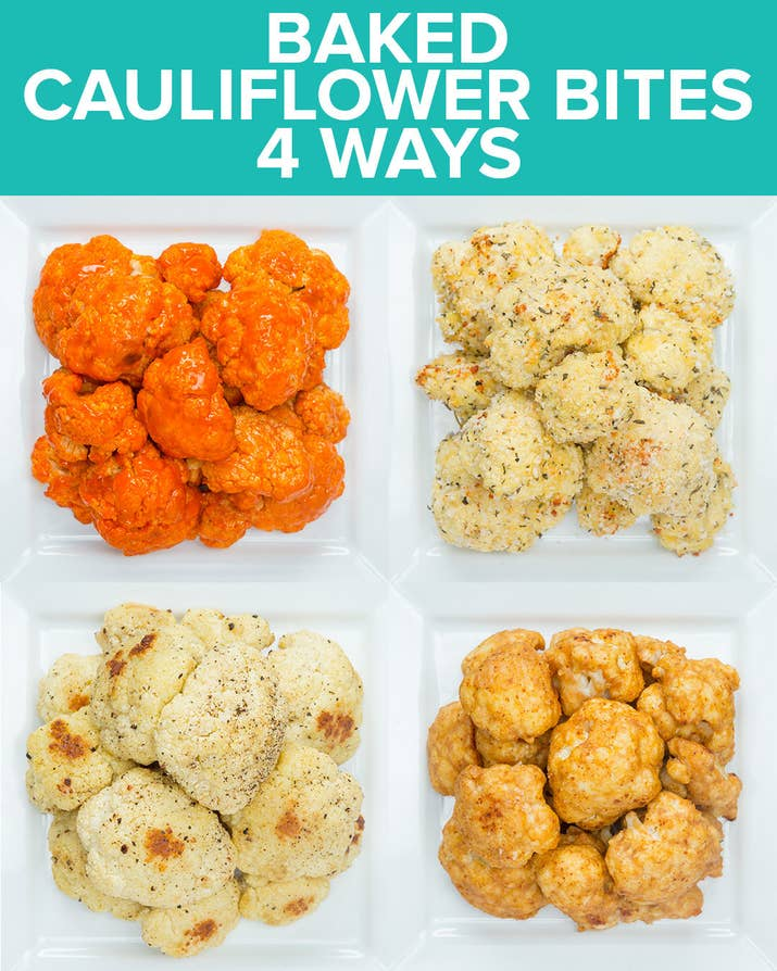 Which one of these baked cauliflower bite recipes would you make for baked cauliflower bites 4 ways share on facebook share forumfinder Choice Image