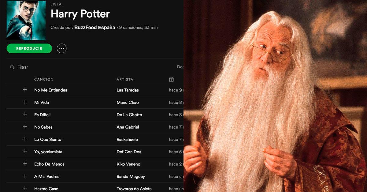 Si los personajes de Harry Potter hicieran listas de Spotify