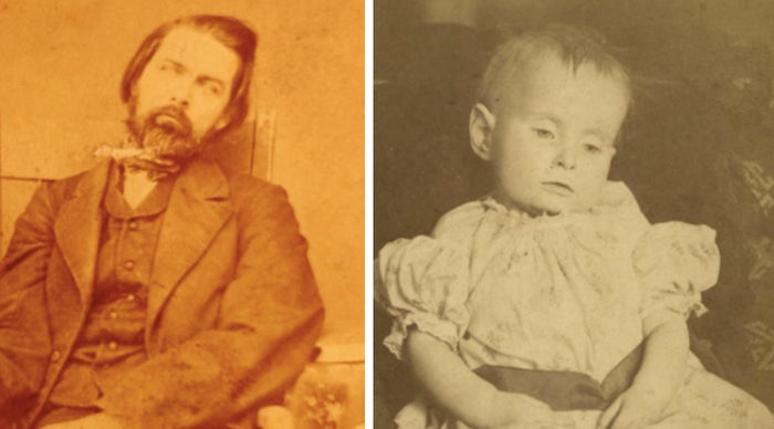 So it used to be a heartfelt gesture to take photos of your loved ones who'd recently died in the 19th century. Now? Just freakin' weird, man.—normandyg