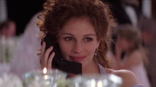 Julianne (Julia Roberts) in My Best Friend's Wedding...