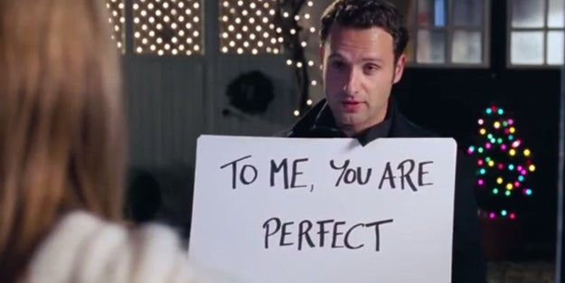 Mark (Andrew Lincoln) in Love Actually